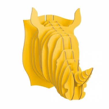 3D Wall Art, Wooden Animal Head, Rhino