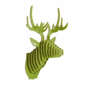 3D Wall Art, Wooden Animal Head, Stag Deer