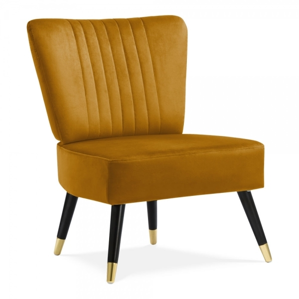 Marvelous Cult Living Abigail Cocktail Accent Chair Velvet Upholstered Mustard Pdpeps Interior Chair Design Pdpepsorg