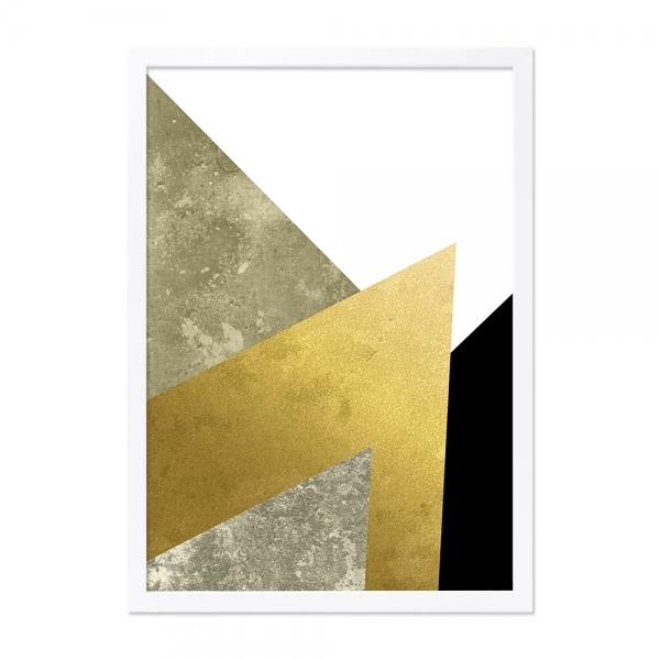 18fcba35b1fe Gold Abstract A2 Print Framed Wall Art