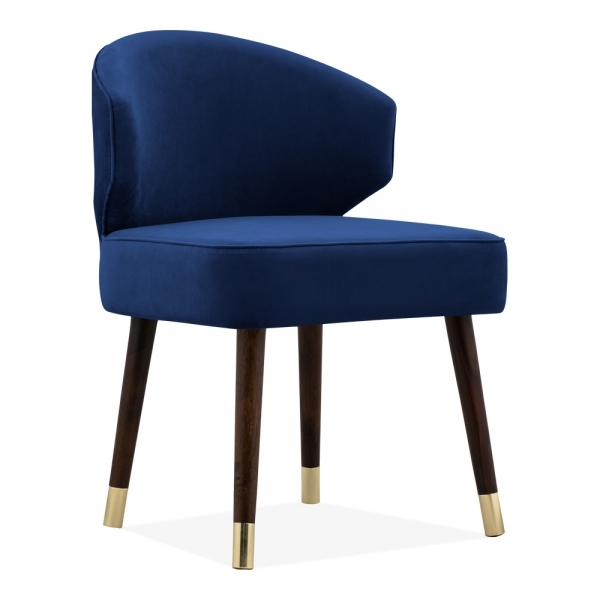 Adela Dining Chair Velvet Upholstered Royal Blue