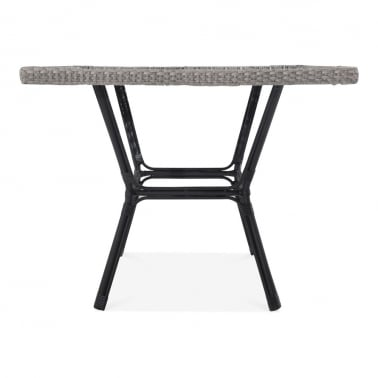 Albion Outdoor Dining Table, Grey Rattan