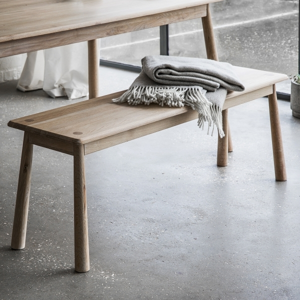 Contemporary Kitchen Chairs: Alpine Indoor Dining Bench Oak