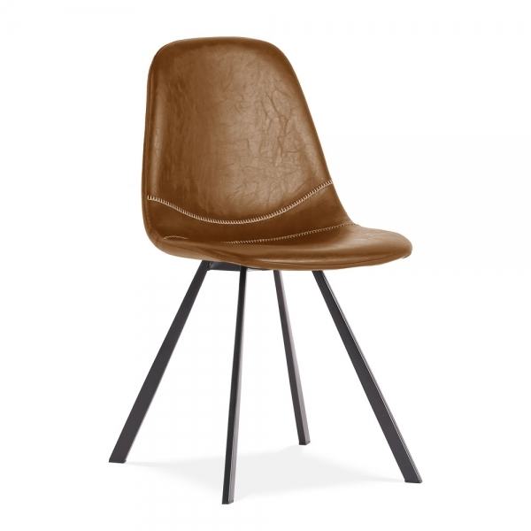 Cool Cult Living Argyll Dining Chair Faux Leather Upholstered Tan Bralicious Painted Fabric Chair Ideas Braliciousco