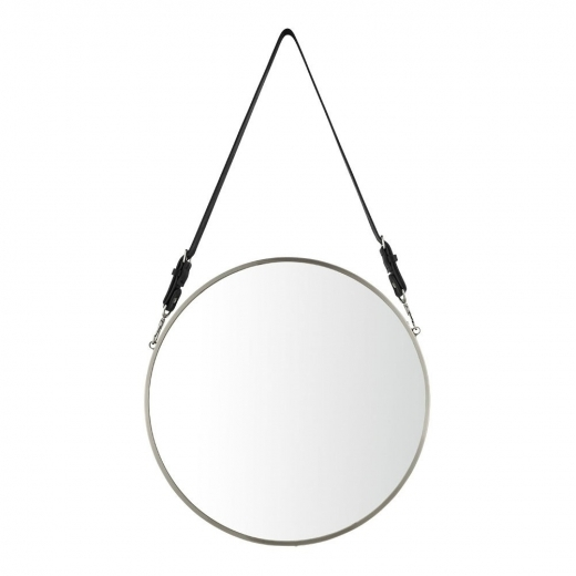 Cult Living Aria Hanging Wall Mirror, Matte Chrome