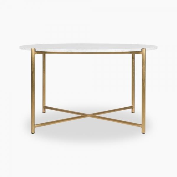 White Marble Aria Round Coffee Table, White Round Coffee Tables