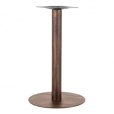 Arleigh Round Cafe Table Base, Stainless Steel, Vintage Brass Finish