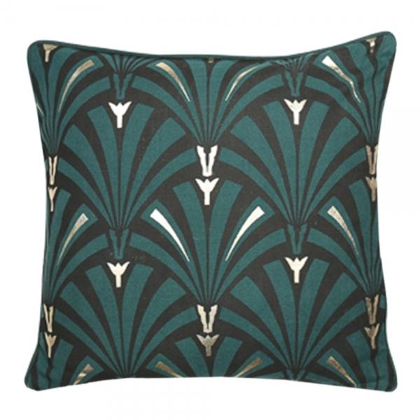 Green Amp Gold Art Deco Flapper Cushion Retro Designer