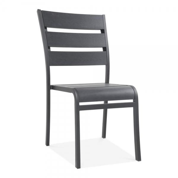 black atlanta outdoor dining chair garden dining furniture