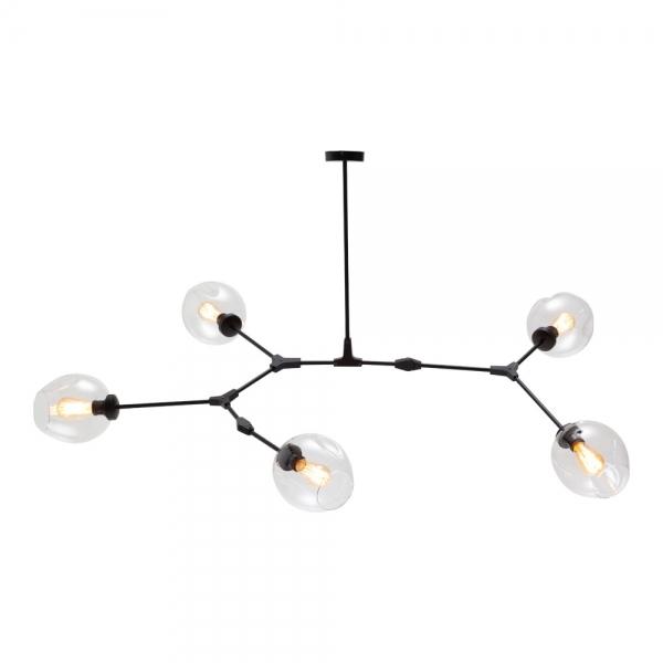 Aura 5 Bulb Chandelier Pendant Light Clear Gl