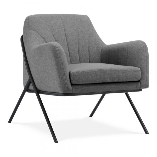 Light Grey Bailey Armchair Fabric Upholstered |Modern ...