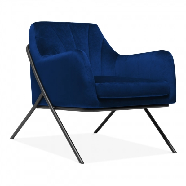 Blue Bailey Armchair Fabric Upholstered |Modern Furniture