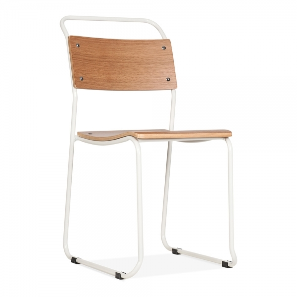 Cult Living Bauhaus Stackable Chair   White