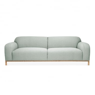 Bergen 3 Seater Sofa, Fabric Upholstered, Soft Teal
