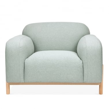 Bergen Armchair, Fabric Upholstered, Soft Teal