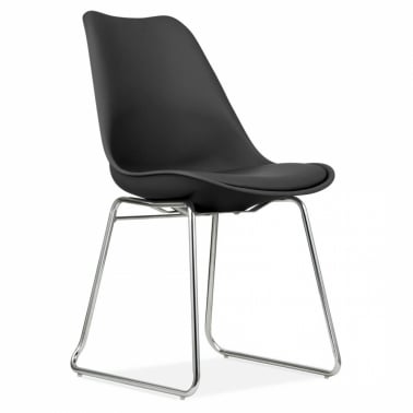 Black Dining Chairs with Soft Pad Seat