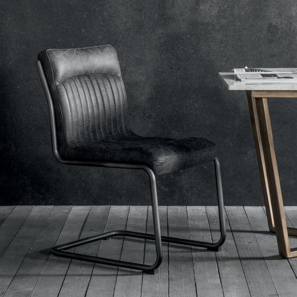 Remarkable Cult Living Blake Metal Dining Chair Leather Upholstered Black Lamtechconsult Wood Chair Design Ideas Lamtechconsultcom
