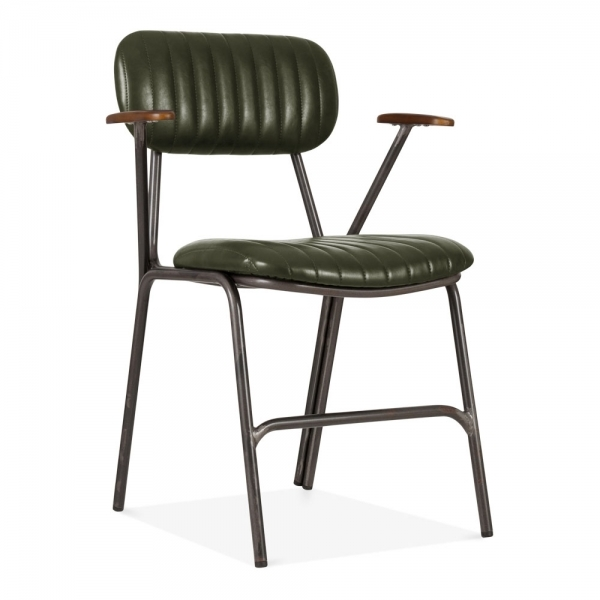 Dark Green Boston Upholstered Dining Armchair Cult Uk
