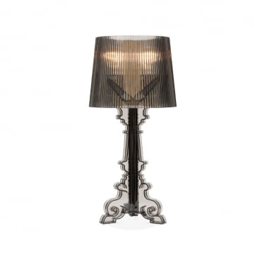 Bourgie Style Lamp, Black Transparent