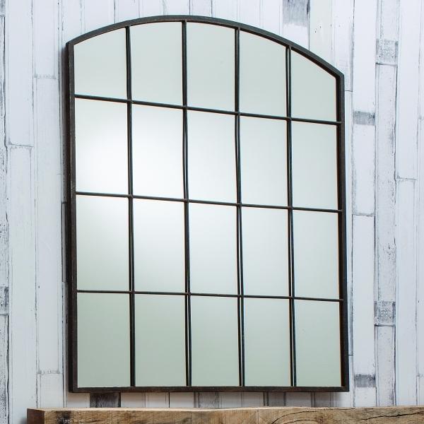 Brompton Window Style Metal Mirror Rustic