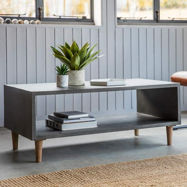 Brooklyn Cubed Coffee Table Concrete Contemporary Coffee