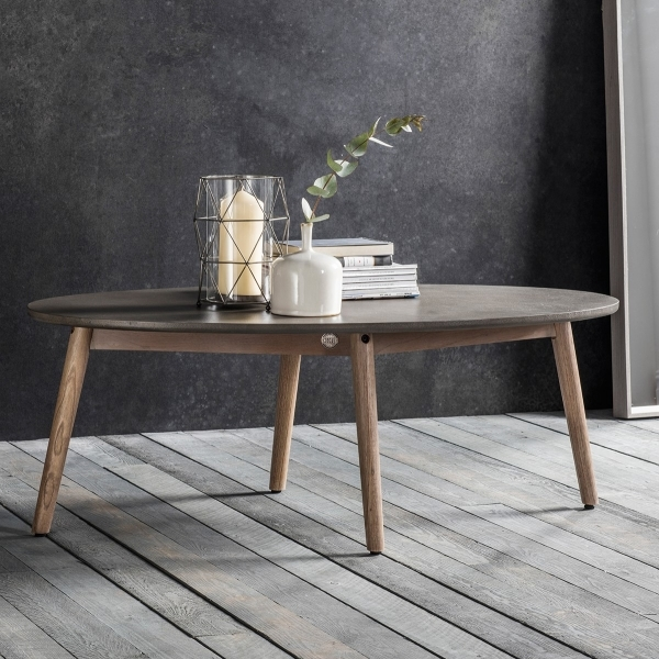 Oval Coffee Table Design: Brooklyn Oval Coffee Table Concrete
