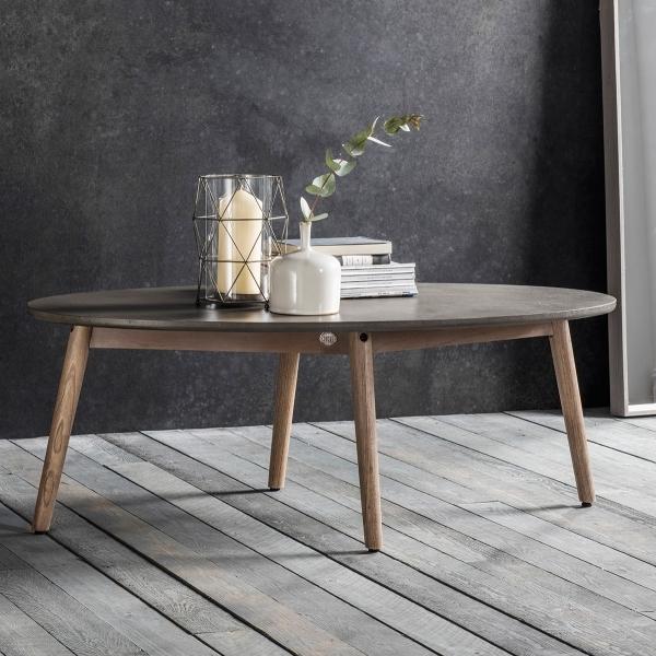 Brooklyn Oval Coffee Table Concrete Modern Coffee Side Tables - Oval concrete coffee table