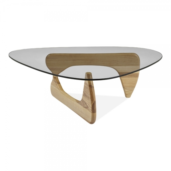 Solid Wood Mid Century Coffee Table: Century Glass Top Coffee Table Ash Wood In Natural