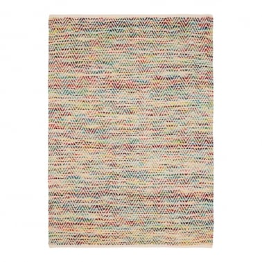 Chevron Patterned Woven Rug, Multi-Coloured