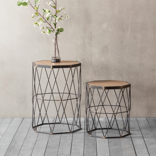 Chiltern Modern Geometric Side Table Set Of 2