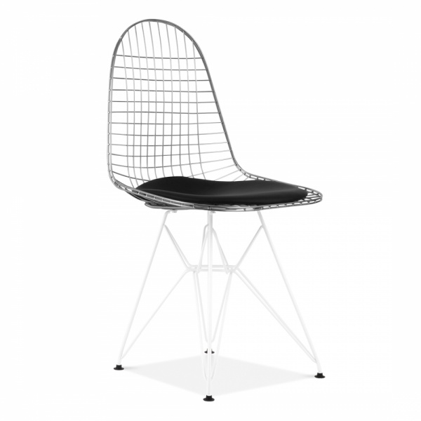 eames style chrome dkr wire chair side cafe chairs cult uk