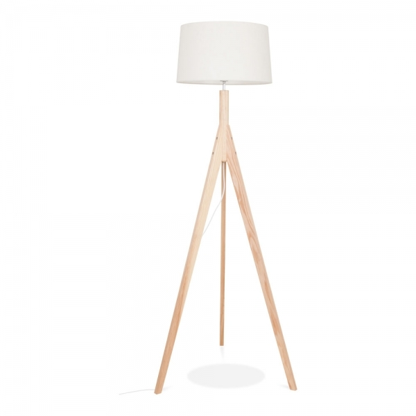Cult Living Cleo Tripod Tall Floor Lamp Solid Wood Natural