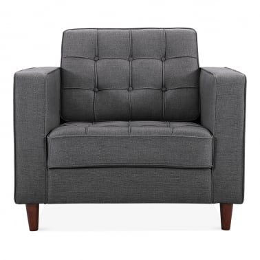 Clifford Armchair, Fabric Upholstered, Dark Grey