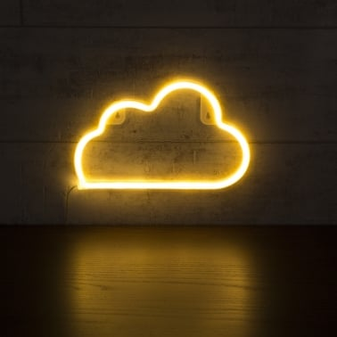 Cloud LED Neon Wall Light, White