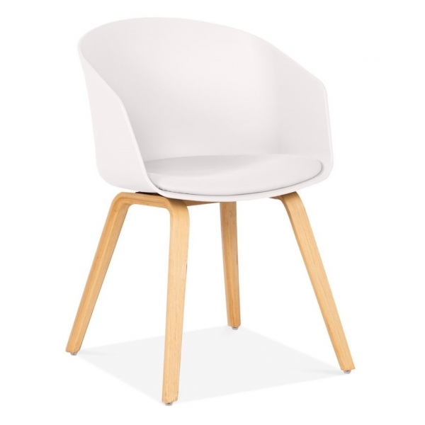 White Plastic Cohen Dining Chair Mid Century Inspired Furniture