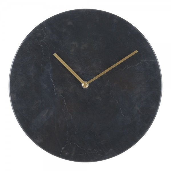 Colt Marble Effect Round Wall Clock Black