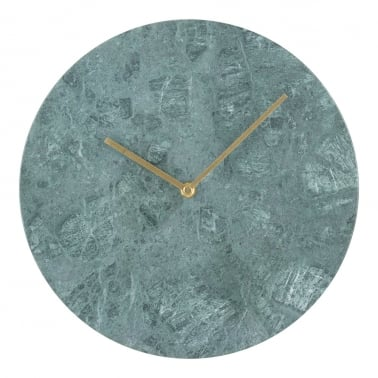 Colt Marble Effect Round Wall Clock, Green