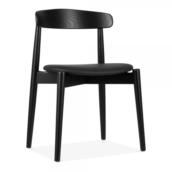 Concept Dining Chair Solid Ash Wood Black