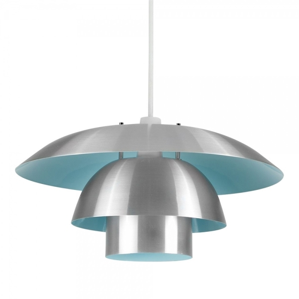 Chrome Amp Blue Cosmo Pendant Light Shade Modern Ceiling