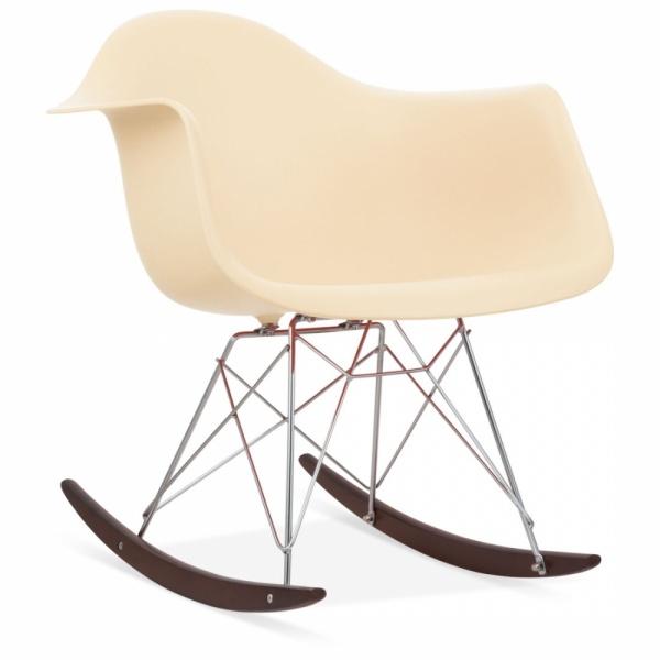 eames style cream rar rocker chair wood rocking chairs cult uk