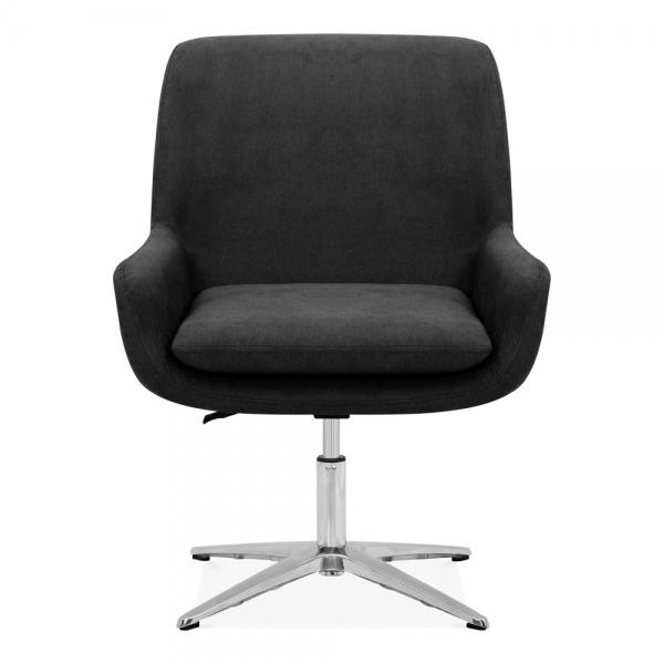 Brilliant Cromwell Swivel Lounge Chair Fabric Upholstered Black Ibusinesslaw Wood Chair Design Ideas Ibusinesslaworg