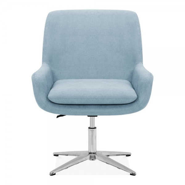 Superb Cromwell Swivel Lounge Chair Fabric Upholstered Light Blue Ibusinesslaw Wood Chair Design Ideas Ibusinesslaworg