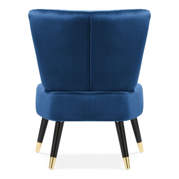 Sensational Abigail Accent Wingback Chair Velvet Upholstered Royal Blue Gmtry Best Dining Table And Chair Ideas Images Gmtryco