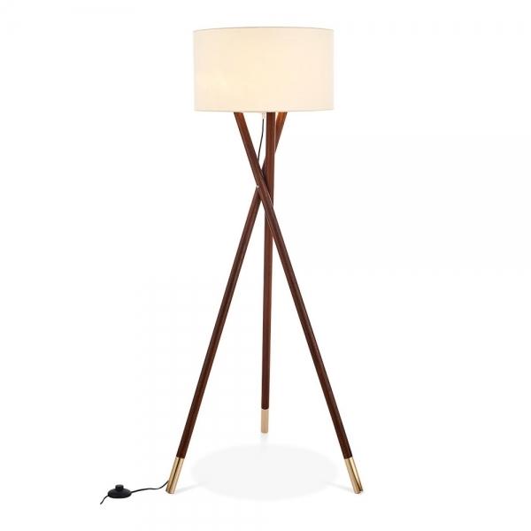 Albany Wooden Tripod Floor Lamp Walnut Finish