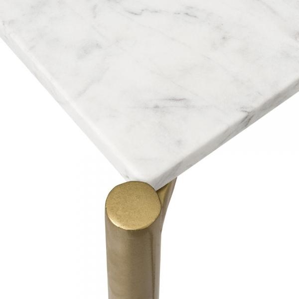 White Marble Aria Geometric Console