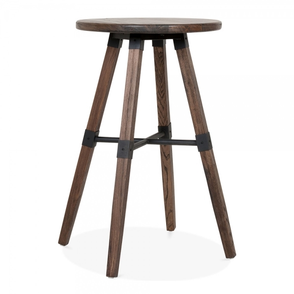 Cult Living Bastille Round Wooden High Table Brown