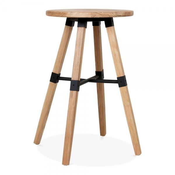 Cult Living Bastille Round Wooden High Table Natural