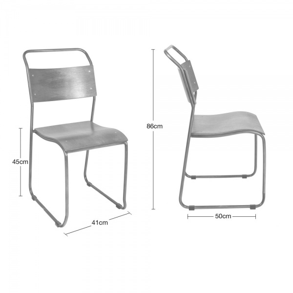 Bauhaus Metal Stackable Chair Dining Chairs Cult Uk