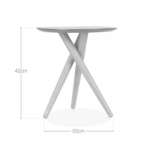 Boden Wooden Tripod Side Table Black