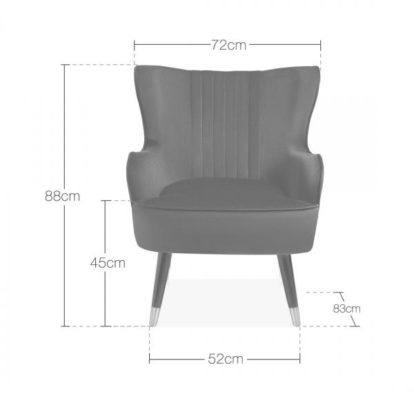 Fine Bronte Wingback Armchair Velvet Upholstered Burnt Orange Squirreltailoven Fun Painted Chair Ideas Images Squirreltailovenorg